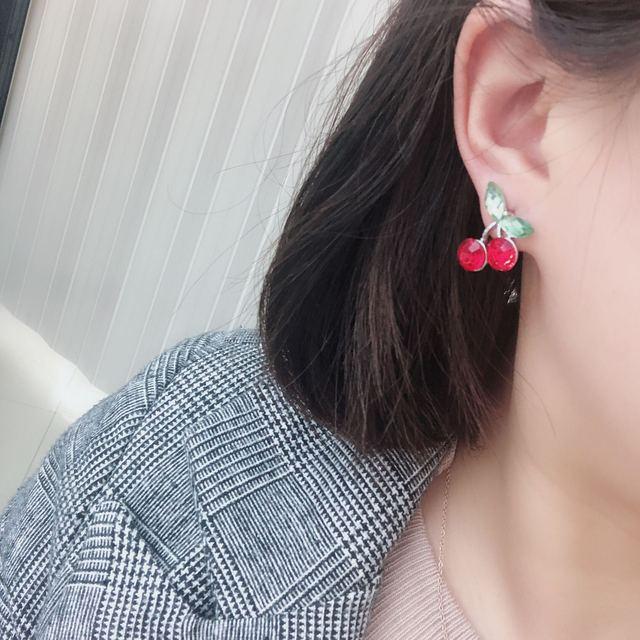 2020 New Arrival Metal Trendy Geometric Women Dangle Earrings Fresh Sweet Red Cherry Leaf Earrings Jewelry.jpg 640x640 - 2020 New Arrival Metal Trendy Geometric Women Dangle Earrings Fresh  Sweet Red Cherry  Leaf Earrings Jewelry Wholesale