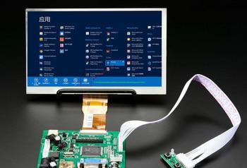 Monitor LCD TFT para pantalla 1024*600 con placa de Control remoto 2AV HDMI VGA para Lattepanda Raspberry Pi Banana Pi