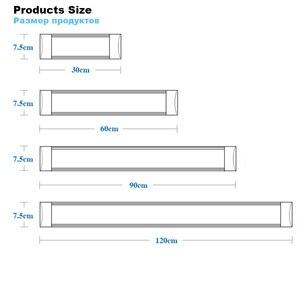 Image 2 - 10 יח\חבילה 5 PCS צינור LED ניקוי טיהור אור 10W 20W 40W LED tri הוכחת באטן אור LED צינור ליניארי מנורת AC85 265V