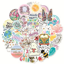 Decal Sticker Decoration Notebook Vinyl Macbookhpxiaomi Cute Waterproof PVC for 50pcs