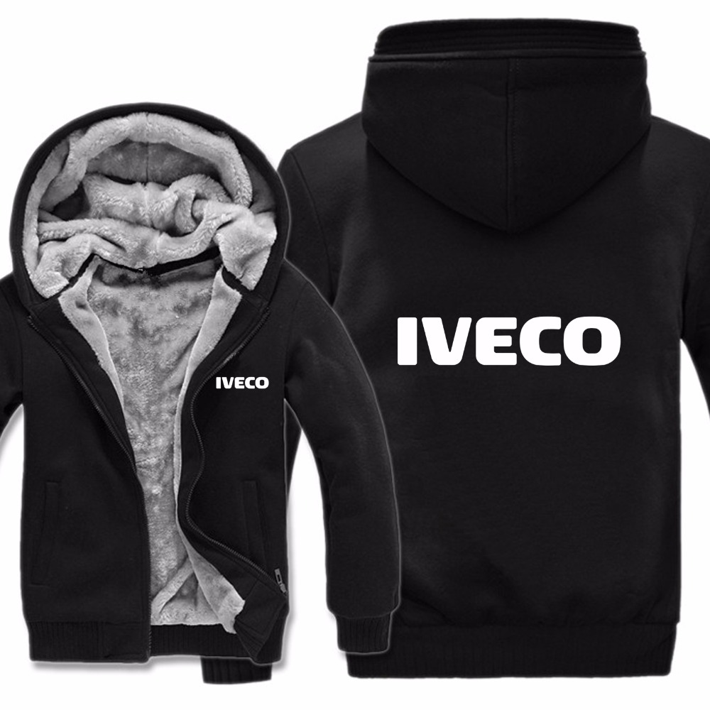 Iveco Trucks Hoodies Jacket Winter Pullover Man Coat Men Wool Liner Fleece Iveco Sweatshirts