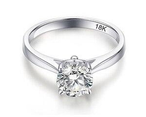 Скидка 95%! Женское кольцо из серебра 925 пробы YANHUI, белое золото 18 К, 2 карата, обручальное кольцо, подарок для женщин