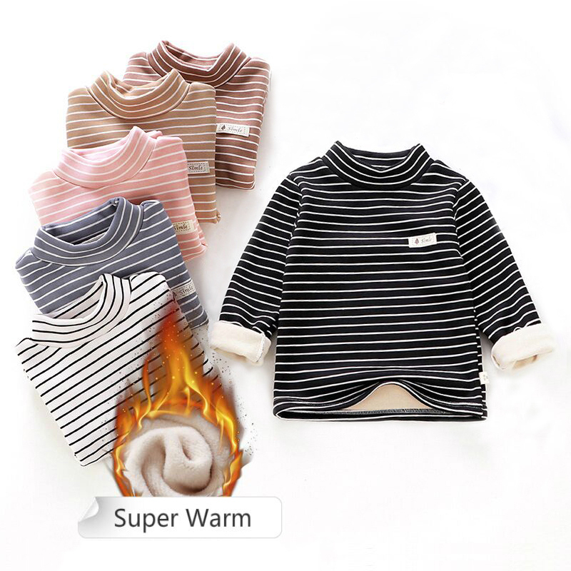 Toddler boys girls Sweatshirts Warm Autumn Winter Coat Sweater Baby Long Sleeve Outfit Tracksuit kids shirt cheap clothes 2020