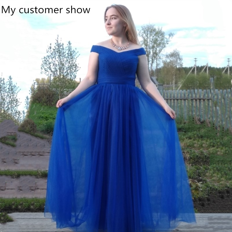 Купить с кэшбэком Beauty Emily Elegant Backless Long Royal Blue Evening Dresses 2020 Lace Up Party Maxi Dress Formal Prom Party Dresses