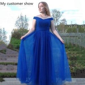 Image 5 - Beauty Emily robe longue de soirée Maxi élégante, dos nu, bleu Royal, robe de fête, de standing, 2020, à lacets
