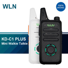 2020 walkie talkie wln KD-C1 mais mini rádios em dois sentidos uhf 400-470 mhz 16 canais rádio ham fm transceptor kd c1 versão de atualização