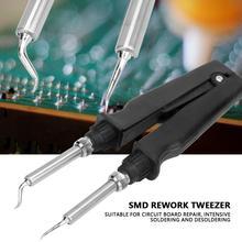 คู่ SMD Soldering เหล็ก Tweezer Rework Station 220V 60W Desoldering Soldering Tweezer สไตล์