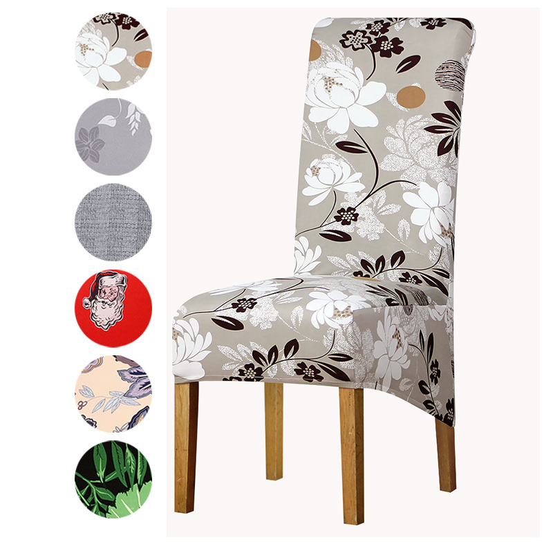 Big Size Chair Cover Long Back Slipcovers XL Size Europe Style High Back Seat Covers For Home Restaurant Hotel Party Banquet