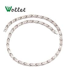 Wollet Schmuck Gesundheit Energie Magnet Reinem Titan Halskette Infrarot Germanium Entlasten Müdigkeit Halswirbelsäule Halskette
