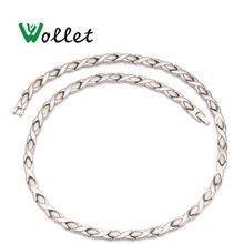 Wollet ジュエリー健康エネルギー磁気純チタンネックレス赤外線ゲルマニウム緩和疲労頸椎ネックレス