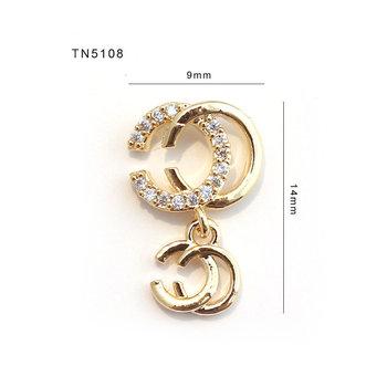 5 sztuk TN5108 wisiorek z cyrkonią kryształki do dekoracji paznokci biżuteria do paznokci Rhinestone materiały do paznokci akcesoria do paznokci 3D ozdoby do paznokci charms tanie i dobre opinie Metal+Zircon Rhinestone i dekoracje 5pcs lot 9mm*14mm