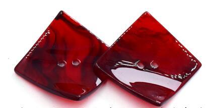 2 шт. креативные 2 отверстия кнопка смолы нерегулярные шитье большие квадратные пуговицы для одежды пальто одежды Швейные аксессуары - Цвет: I