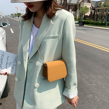 Mini simple wild texture small bag female 2020 new Korean version of the foreign chain shoulder messenger bag foreign bag female 2020 new korean version of the fashion texture crocodile pattern wild shoulder messenger chest bag