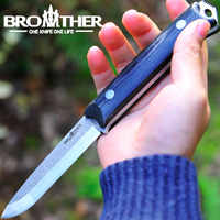 [BROTHER F003] 58-60HRC Scandi klinge Feste Klinge messer Bushcraft Messer Gerade Taktische Jagd Camping hohe qualität EDC werkzeug