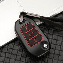 Silicone Zinc alloy Car Key Case Cover For Peugeot 301 3008 5008 208 307 308 508 2008 4008 for Citroen C4 CACTUS C5 C3 C4L C6 C8
