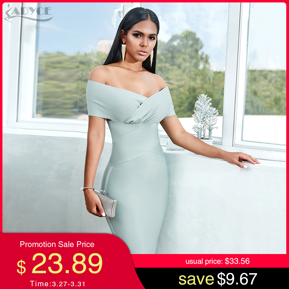 ADYCE New Summer Off Shoulder Bandage Dress Women 2020 Sexy Short