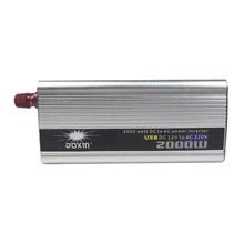 2000W Auto Power Inverter Dc 12V Naar Ac 220V Draagbare Auto Power Charger Converter Adapter Socket Gemodificeerde sinus