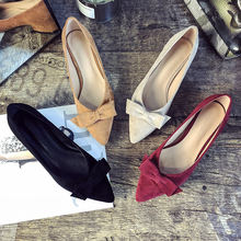 Женские туфли на низком каблуке универсальные с острым носком