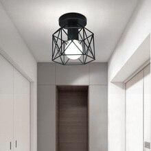 Lámpara de techo Industrial Vintage accesorios de luz para cocina granja pasillo E27 Base pasillo entrada