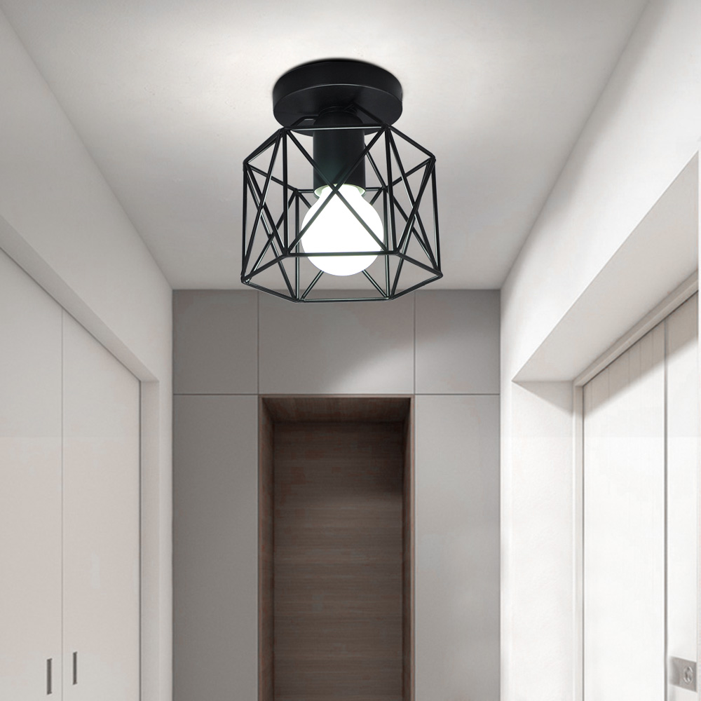 Elegante Decken Leuchte Haus Flur Dekor Lampe satiniert Küchen Licht Big Light