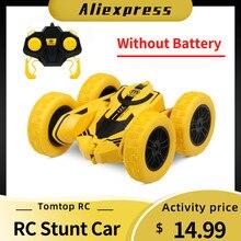 1/28 RC Stunt Car High Speed Tumbling Crawler Vehicle 360 Degree Flips Double Sided Rotating Tumbling RC Car(China)