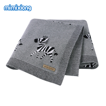 Baby Blankets Swaddle Wrap Cotton Knitted Newborn Bebes Stroller Bedding Sleeping Covers 100*80cm Toddler Infant Month Blankets tanie tanio mimixiong 0-3 miesięcy 4-6 miesięcy 7-9 miesięcy 10-12 miesięcy 13-18 miesięcy 19-24 miesięcy 100 bawełna 82W628-1