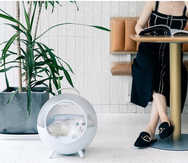 cães para fora transparente pet mochila respirável