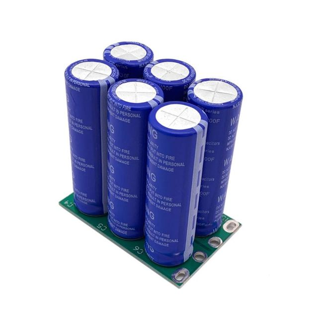 16V 16.6F Super Farad Capacitor 6PCS/Set 2.7V 100F Super Capacitor with Protection Board Double Row for Car Automotive Rectifier
