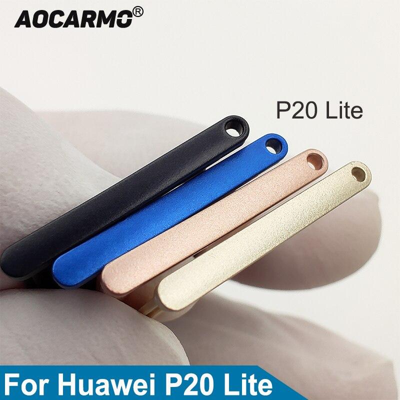 Aocarmo SD Memory Card MicroSD Holder Nano Sim Card Tray Slot Adapter For Huawei P20 Lite P20lite(China)