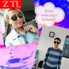 ZT Popular Women Round Sunglasses Polarized Brand Designer Vintage Men Matte Frame Retro Sun Glasses UV400