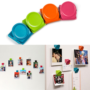 4 Pcs Magnetic Metal Clips Refrigerator Whiteboard Wall Fridge Magnetic Memo Note Clips Magnets Metal Clip