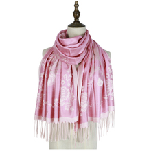 capes stole women fashion rayon wraps shawls scarves femme pashmina woven tippet scarf floral long viscose shawl