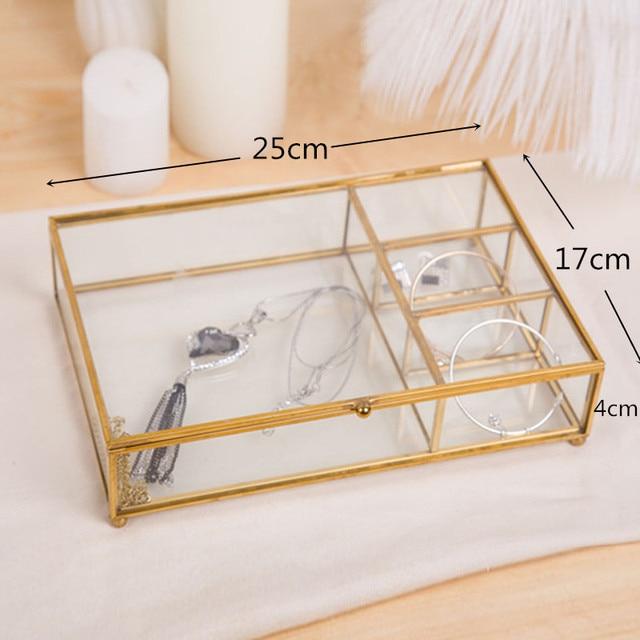 תיבת אחסון זכוכית דקורטיבית לאחסון  2