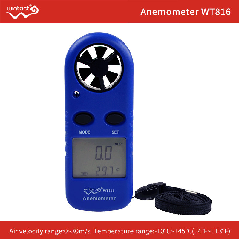 Anemometer Handheld Wind Speed Meter For Shooting, Russia Manual Battery Included