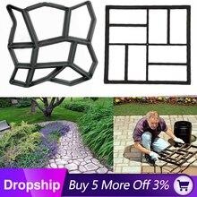 Форма для изготовления дорожек, бетонные формы, сделай сам, черный пластик, домашний сад, пол, дорога, Шаговая дорожка, каменная дорожка, форма для патио, Жардин