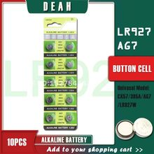 DEAH 10PCS 1.55V Alcalina AG7 LR927 SR927W 399 GR927 LR57 395A 195 Botão Da Bateria de Célula tipo Moeda Baterias Para Relógios Brinquedos Remoto