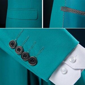 Image 3 - PYJTRL Mens Pure สีชุด 2 ชิ้น Slim Fit ชุดเจ้าบ่าวเจ้าบ่าวธุรกิจชุดลำลองเสื้อแจ็คเก็ตและกางเกงเครื่องแต่งกาย Homme