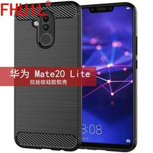 Dirt-resistant Fitted Case For Huawei mate20 lite Carbon Fiber Shockproof TPU Back Cover for huawei Anti-knock