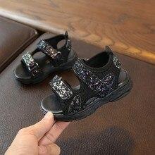 CSBL sandals Children Baby Girls Boys Mesh Sequins Thick bottom Summer Sport Sandals Sneakers children  girls Jun6