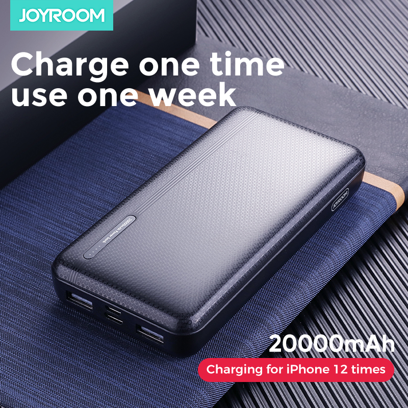 Joyroom Power Bank 20000mAh Portable Battery Powerbank 2 USB Port Fast Quick Charge With LED Powerbank For iPhone Samsung Xiaomi|Power Bank| |  - title=