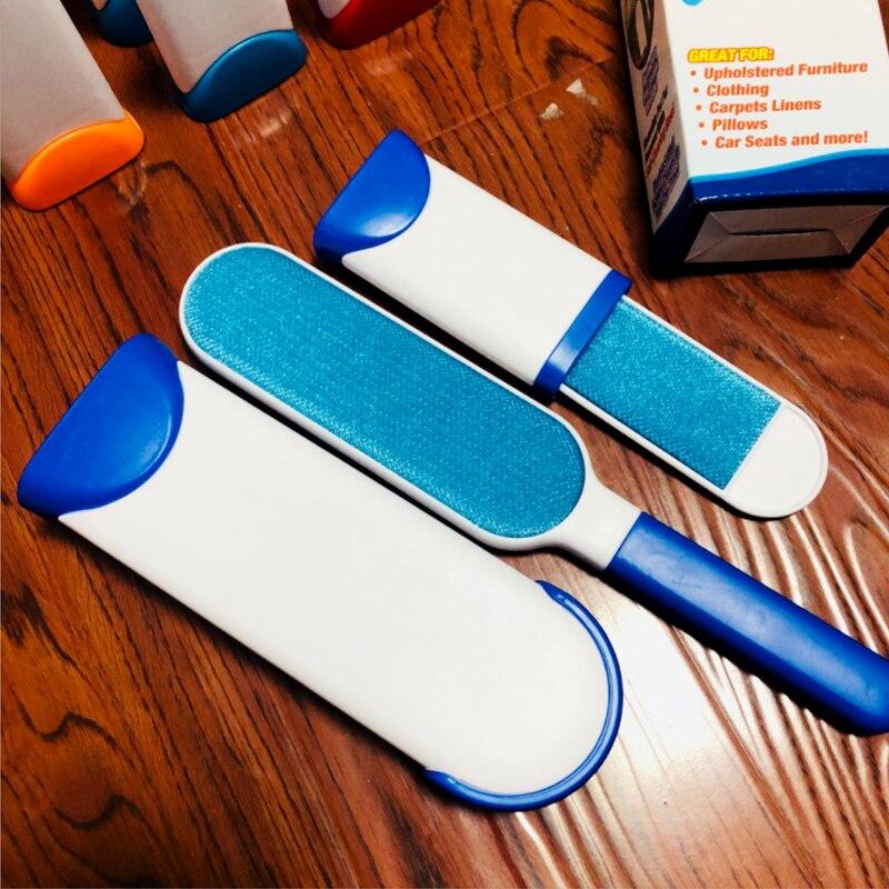 Щетка для удаления шерсти домашних животных, волшебная щетка для чистки меха, портативная Бытовая щетка для чистки пыли, кисть Электростатическая, устройство для очистки пыли