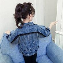Benemaker Jeans Jacke Kleidung Für Mädchen Kinder Jean Kleidung Windjacke Baby Kinder Denim Mantel Mädchen Stickerei Oberbekleidung YJ140