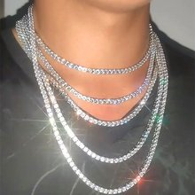 Подарок для пары Однорядная теннисная цепочка ожерелье в стиле
