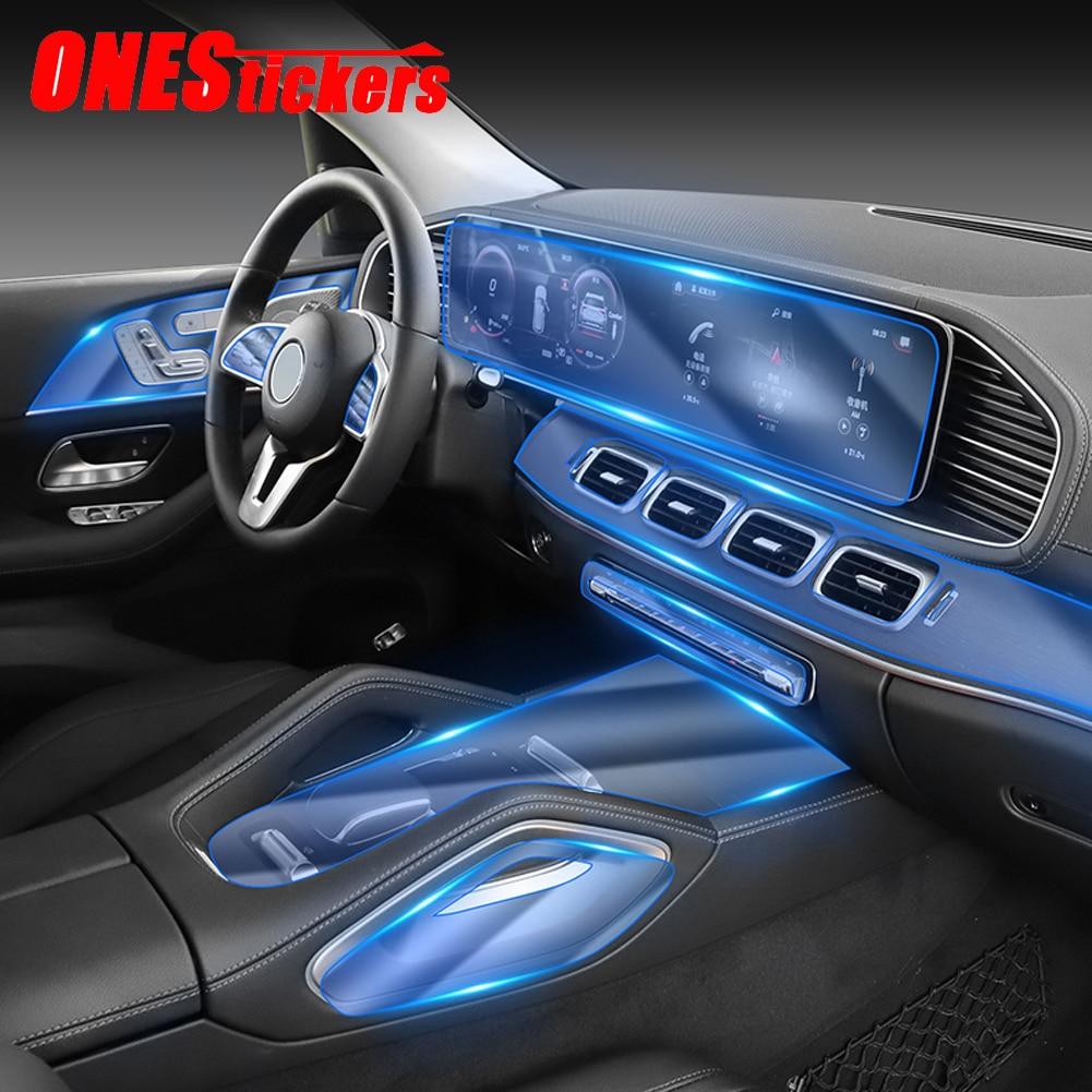For Mercedes Benz GLE Class GLE350 GLE450 W167 V167 2020+ Car Center Console AC Navigation Full Set Interior TPU Protector Film