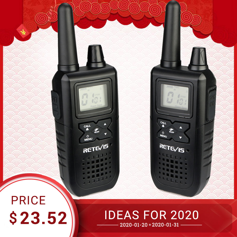 RETEVIS RT41 Two-way Radio 2pcs VOX License-free FRS Portable Mini Walkie-talkie NOAA Weather Alert USB Charging Walkie Talkie