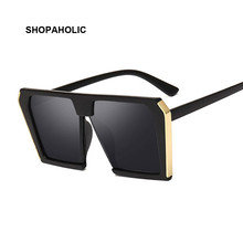 Vintage Big Square Sunglasses Women Oversized Luxury Brand Fashion Sun Glasses Female Lady Shades Oculos De Sol UV400