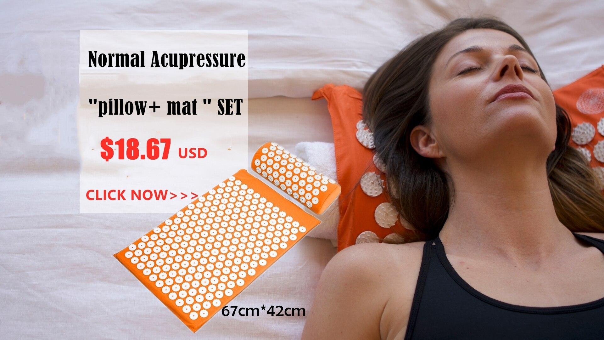Fitness Yoga Pilates Yoga Mat Lótus Mat Conjunto Travesseiro Cama de Massagem Acupuntura Massageador Almofada para para trás