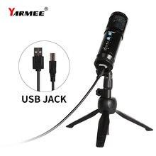 Usb конденсаторный микрофон yarmee музыкальный для ПК с функцией