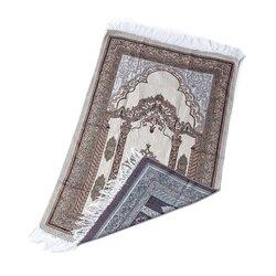 Tapis de prière en fil de coton tapis de prière musulman léger pour salon chambre salle tapis de prière Portable
