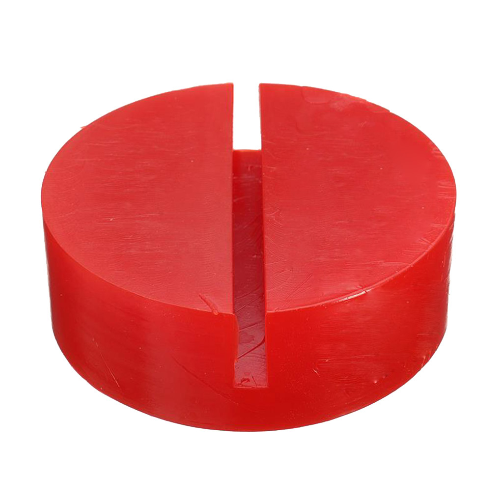Car Lift Jack Stand Rubber Pads Jacks Pad Disc Hydraulic Jack Disk Jacks Stand Red Rubber Slotted Floor Pad Head Skid In